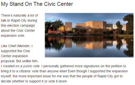 Kooiker website on Civic Center